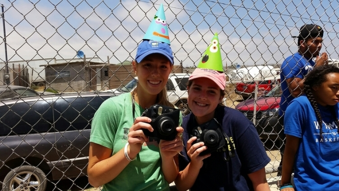 Rebekah and Maddie, our polaroid photographers